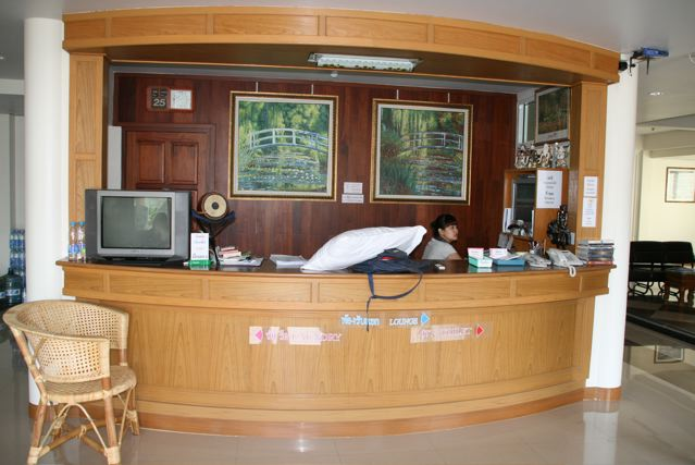Phadaeng Mansion front desk.