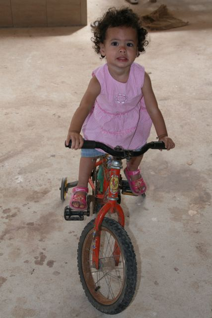 marisah on bike