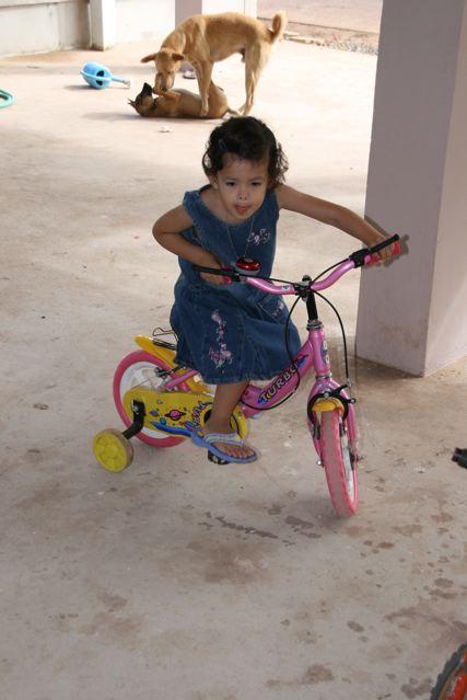 Ariya on bike