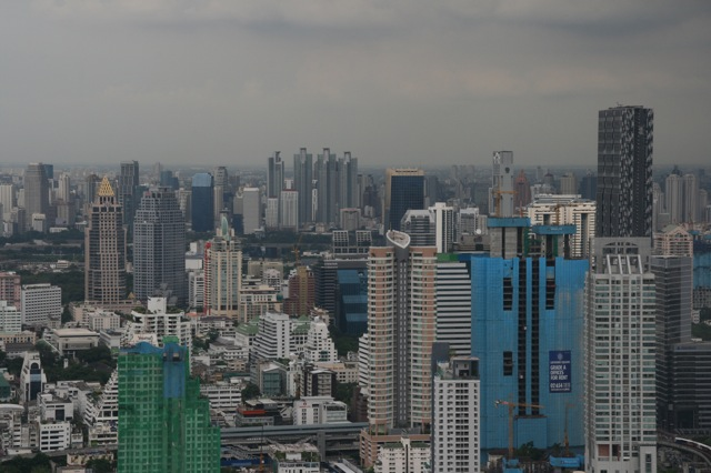 View of Bangkok skyline from the Lebua hotel