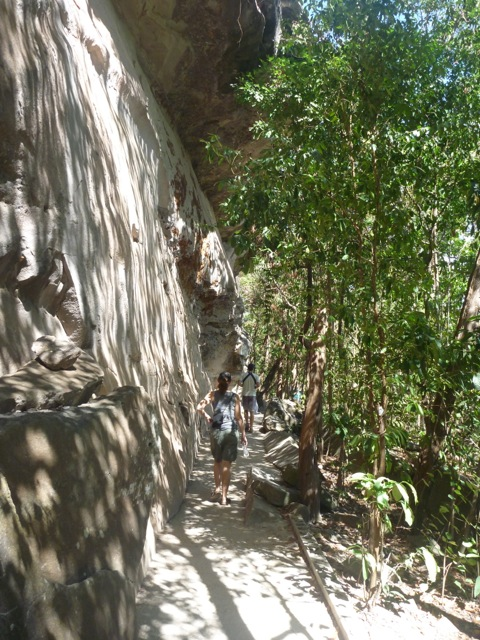 Most of the walk was in the shade of the cliff which given it was the middle of a very warm day was greatly appreciated.