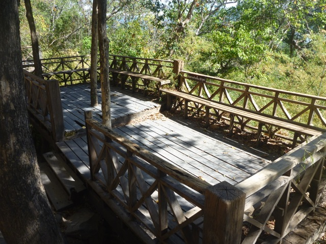 There were a few decks built to allow walkers to take a break. Some of them were in very poor condition so I chose very carefully which one I used to take a breather while baby Nicholas was having a feed.