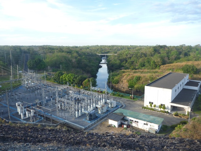 View of the power station with the river handling the run off in the background.