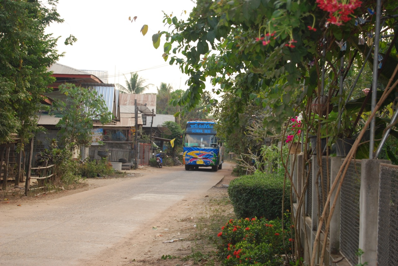Thailand school boom bus