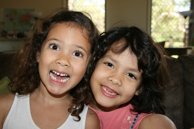 The previous month Ariya had lost another tooth but this month is was Marisah's turn, this time her very first one.