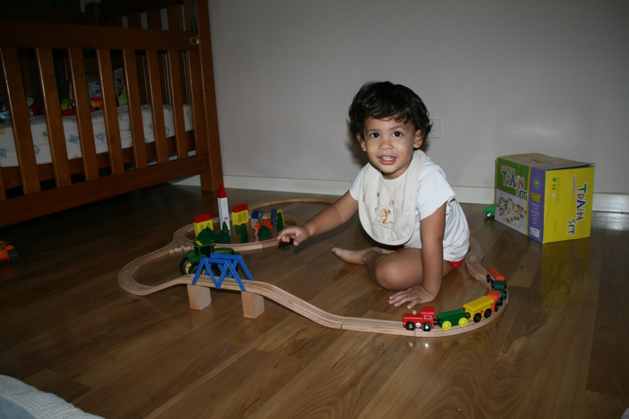 Jacob got a new train set which he was very excited about. So was Mum and Dad as it kept him occupied for hours!
