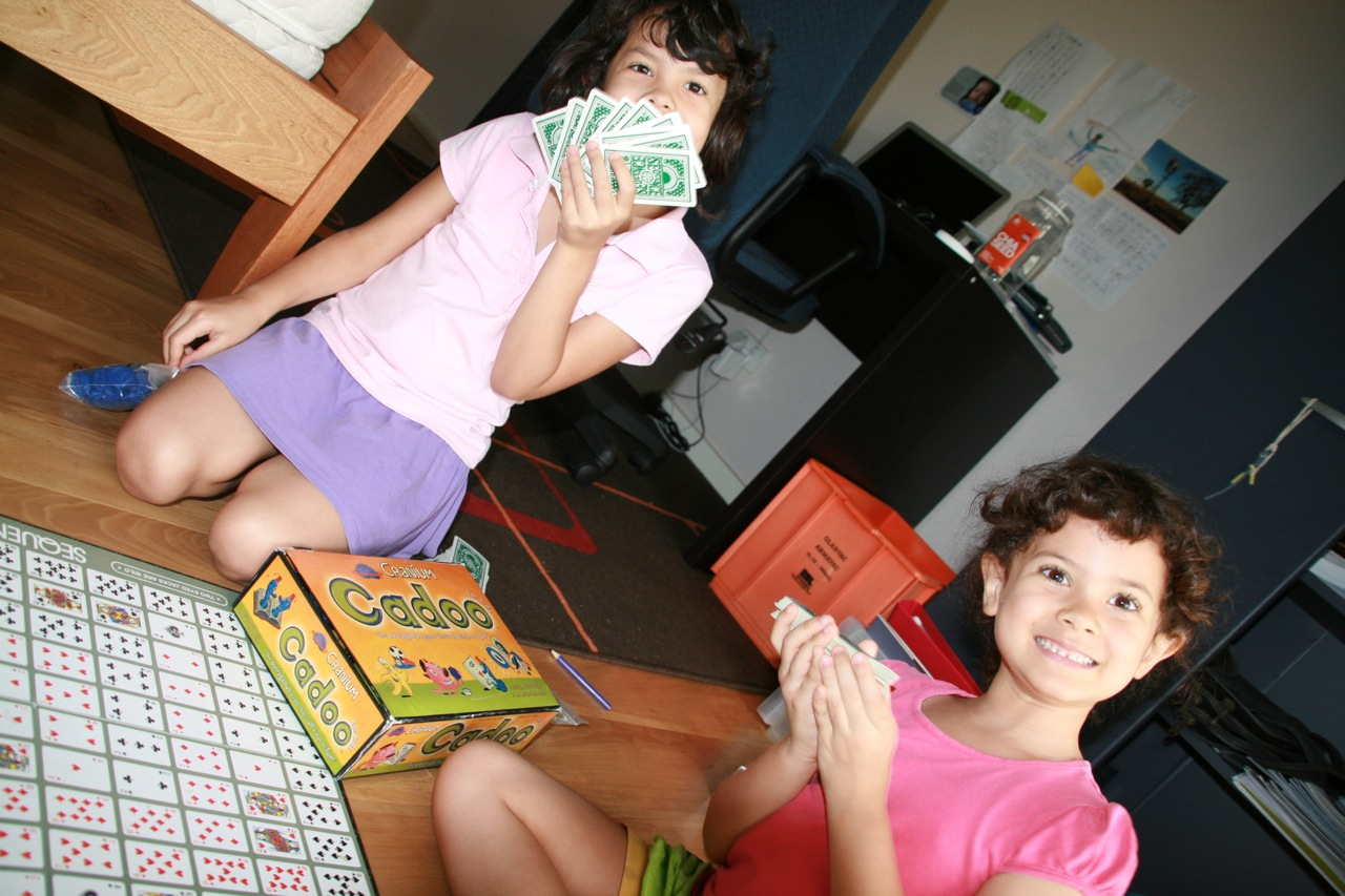 We borrowed some board games from a friend and the girls really enjoyed learning how to play and ultimately master them.