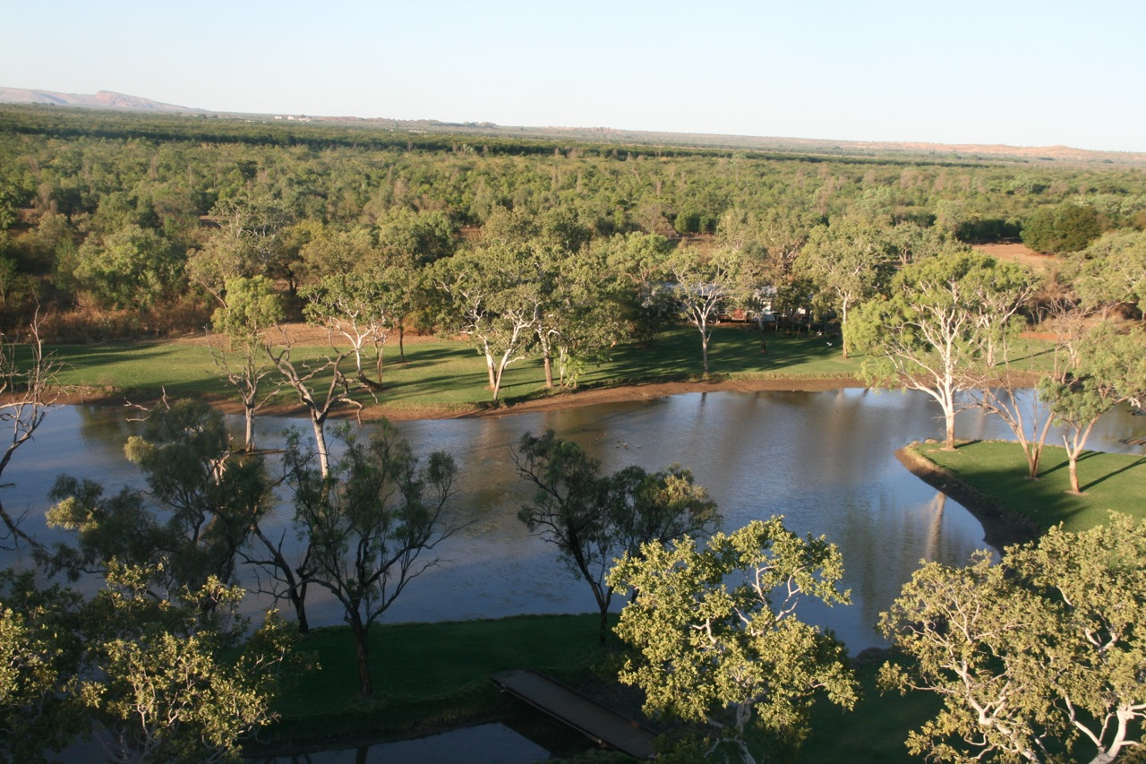 Noot and Bow were nervous but excited to go for a quick buzz over a part of the Ord River Irrigation Area. I jumped in with Jacob who was keen as mustard to go for a flight. This first photo is just as we took off. That is our house nestled in amongst the trees by the lake.