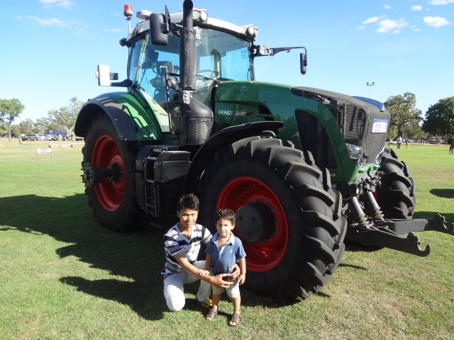 "Here is Jacob with his new best friend ""Noo Noot"". Jacob really warmed to his cousin, especially if he took him to go and see the tractors!"