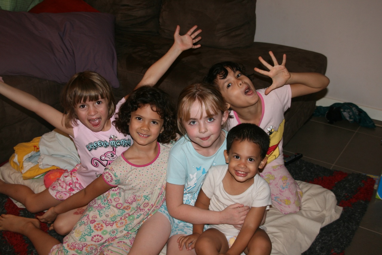 A sleepover was organised when our friend Nikita was visiting Kununurra. Cousin Elise also joined in for the night.