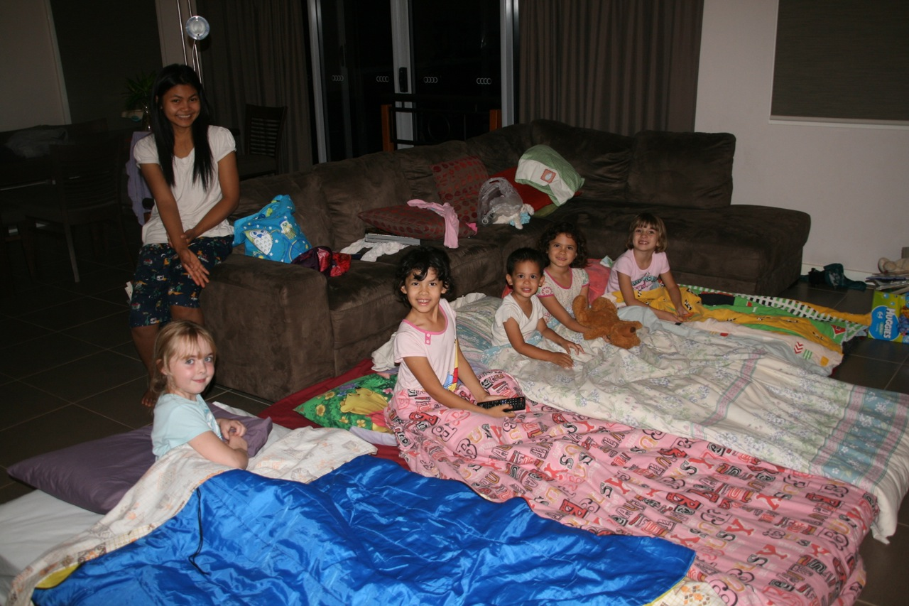 Girls sleepover fun