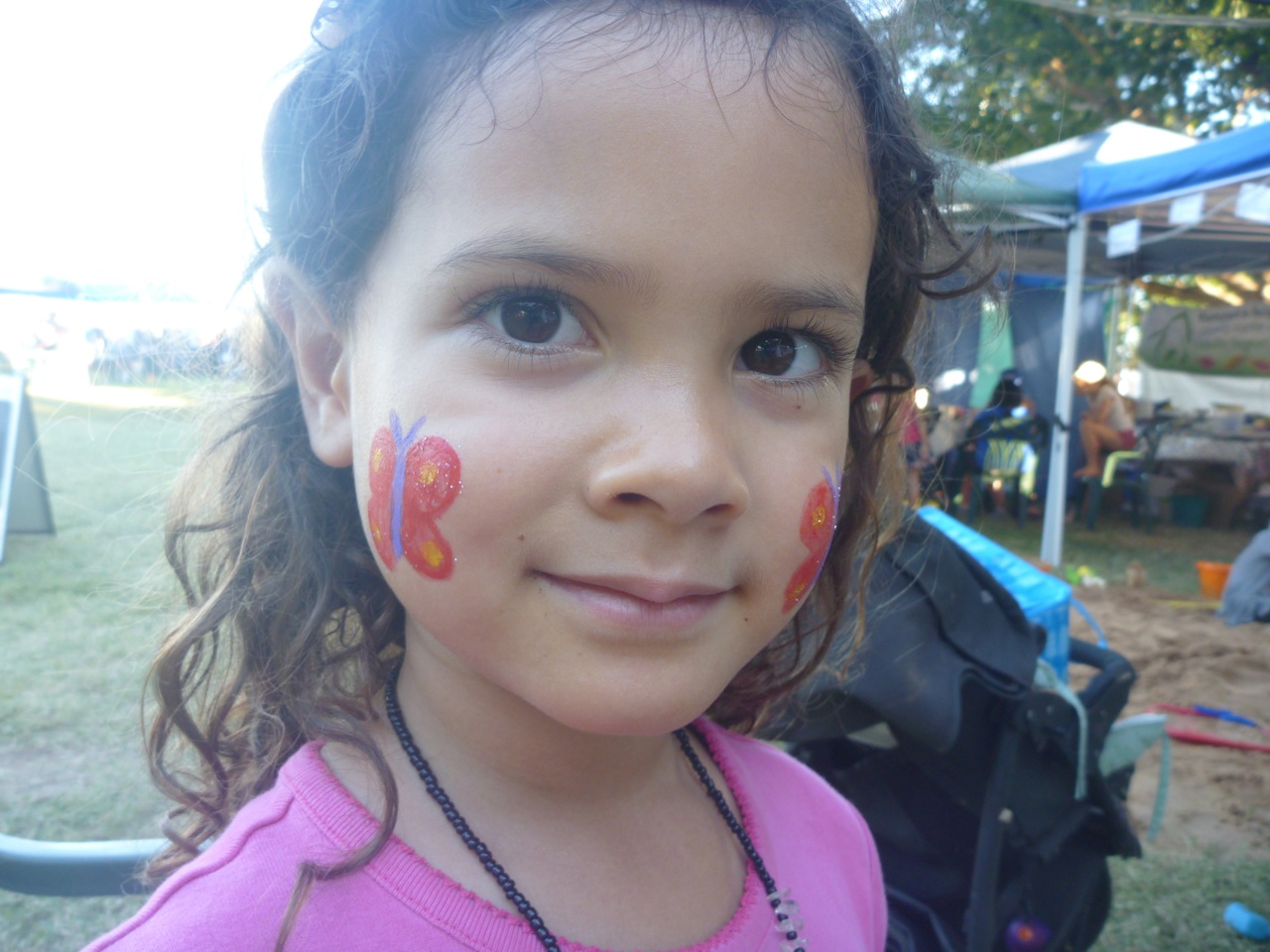 Getting your face painted is a must every year.