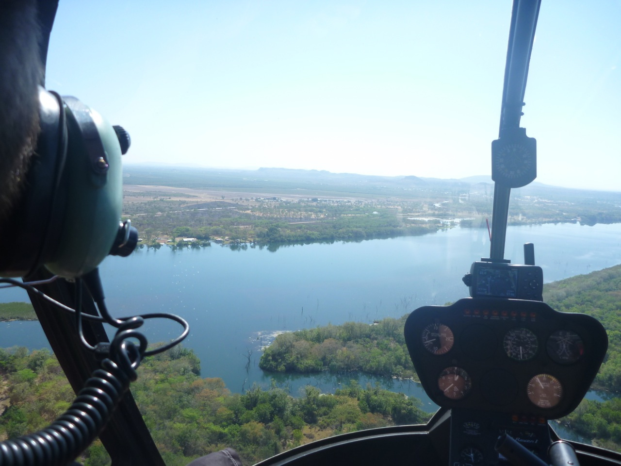 Kununurra Airport from a chopper over the Lake