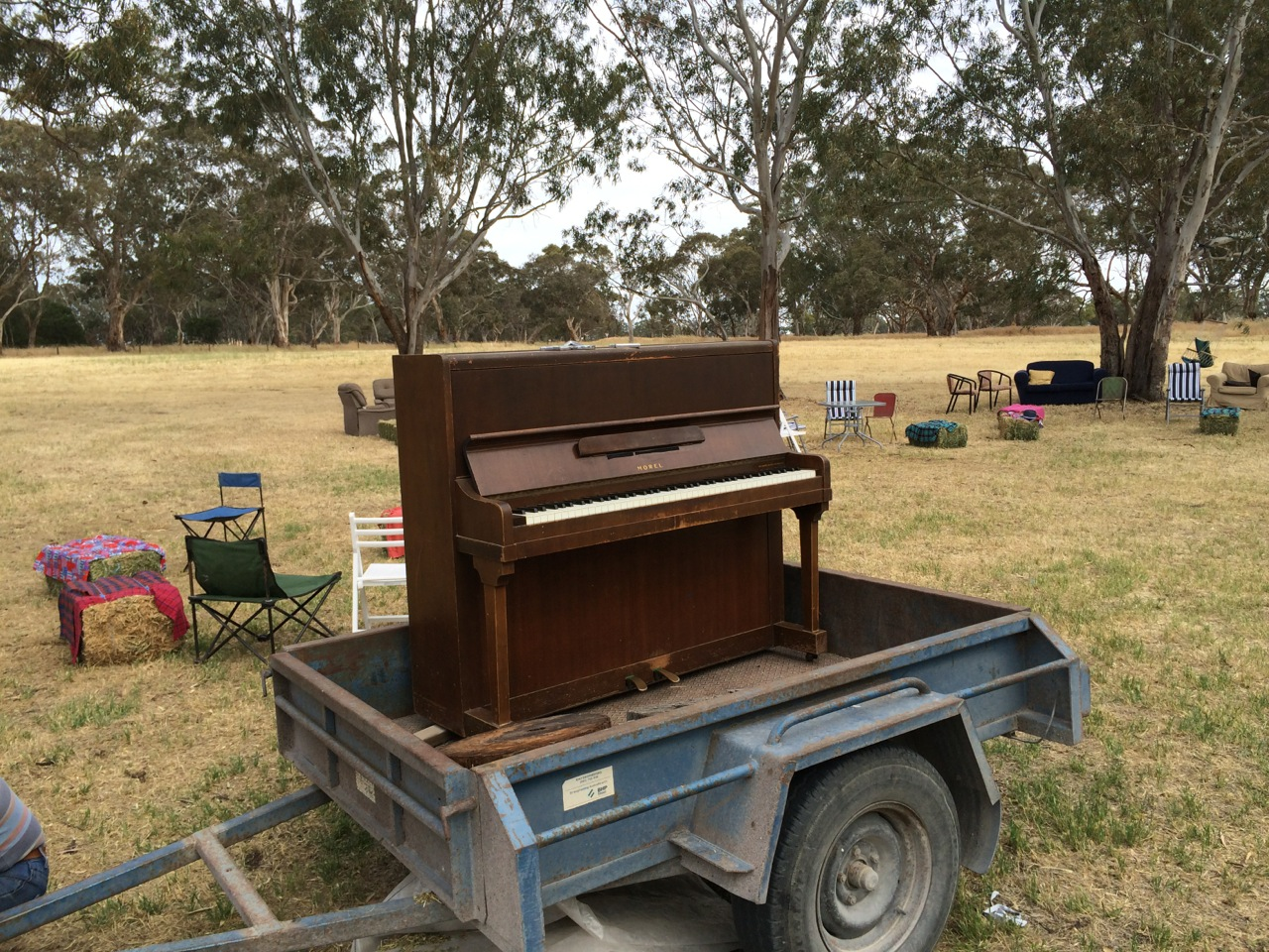 Piano in a paddock