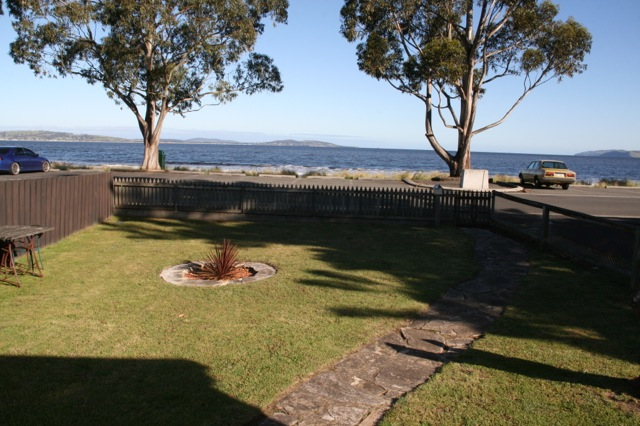 View at A beach house by the sea, Kingston, Tasmania