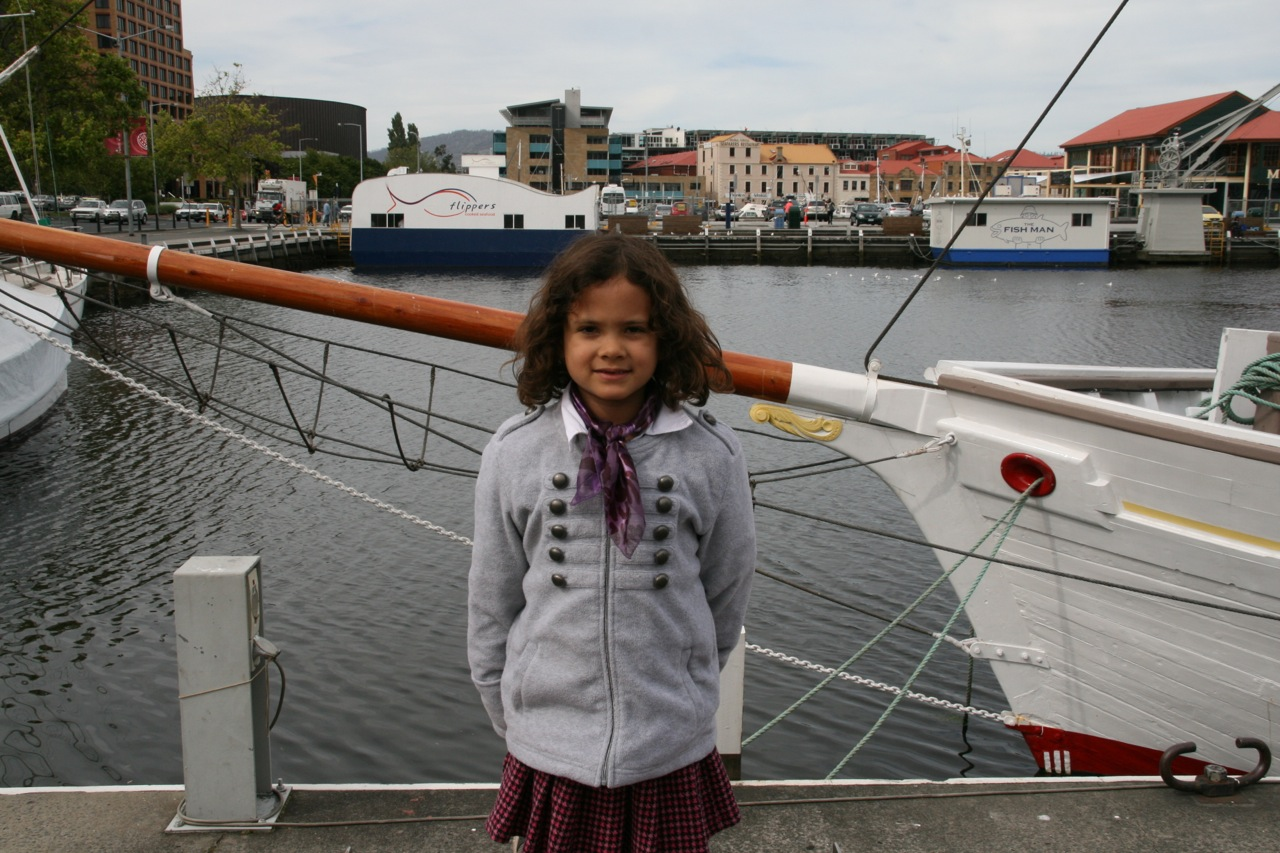 Marisah posing at Constitution Dock.