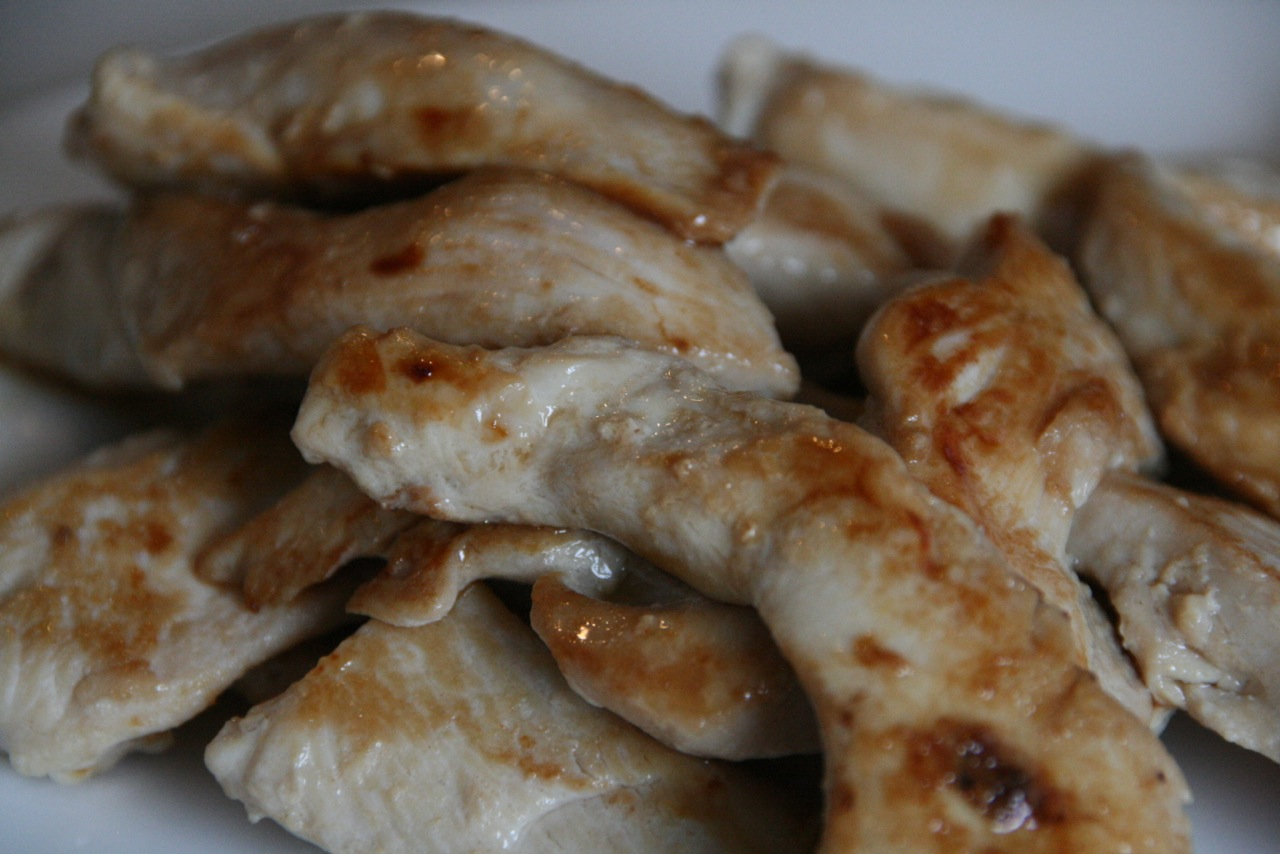and some succulent marinated chicken pieces.