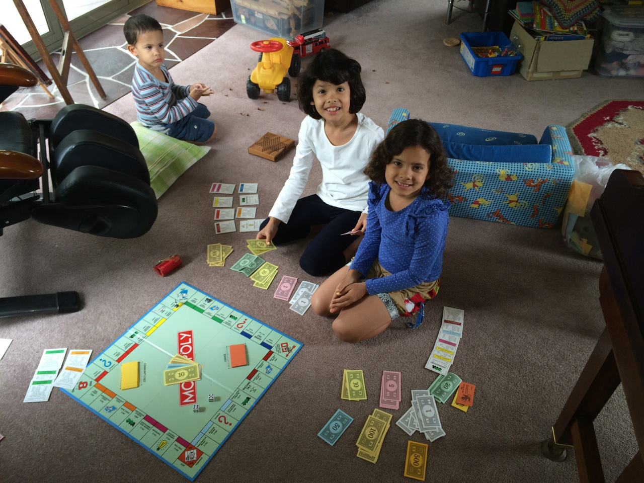One of the highlights for me of the stay in New Zealand was playing two full length games of Monopoly with my girls. Many memories and stories of my games with my older brother came flooding back and it was a great time for all. Some amazing math lessons were had as well!