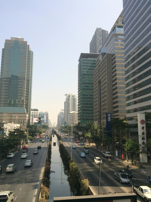 This is Sathorn road that I ran down. I took this photo after breakfast on my walk back to the hotel.