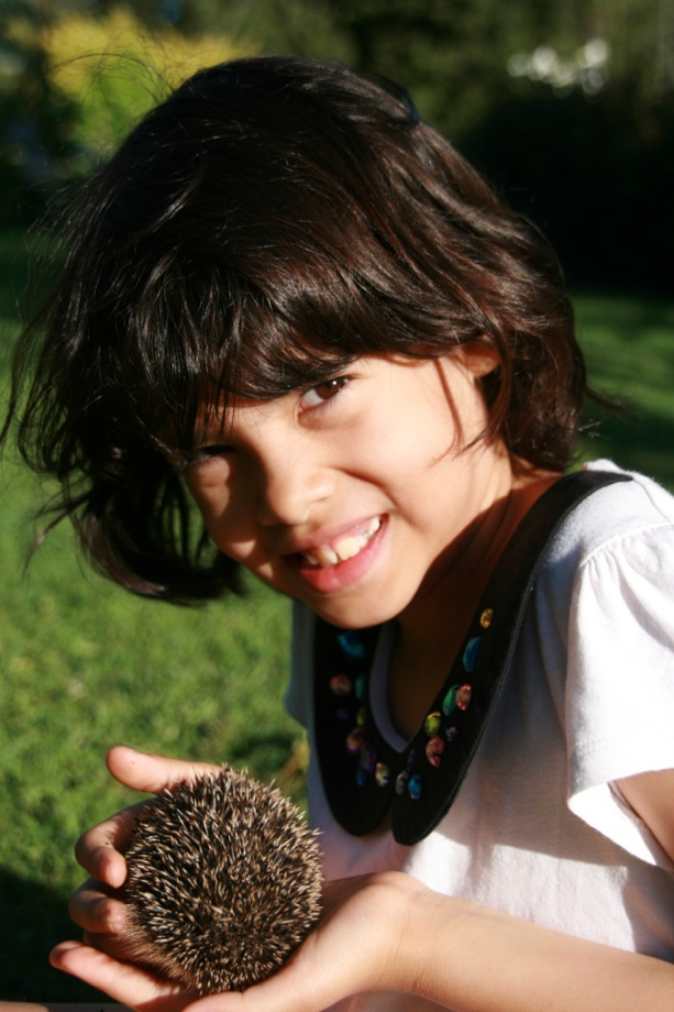 One of the highlights for Ariya was finding an English  Hedgehog in the garden.