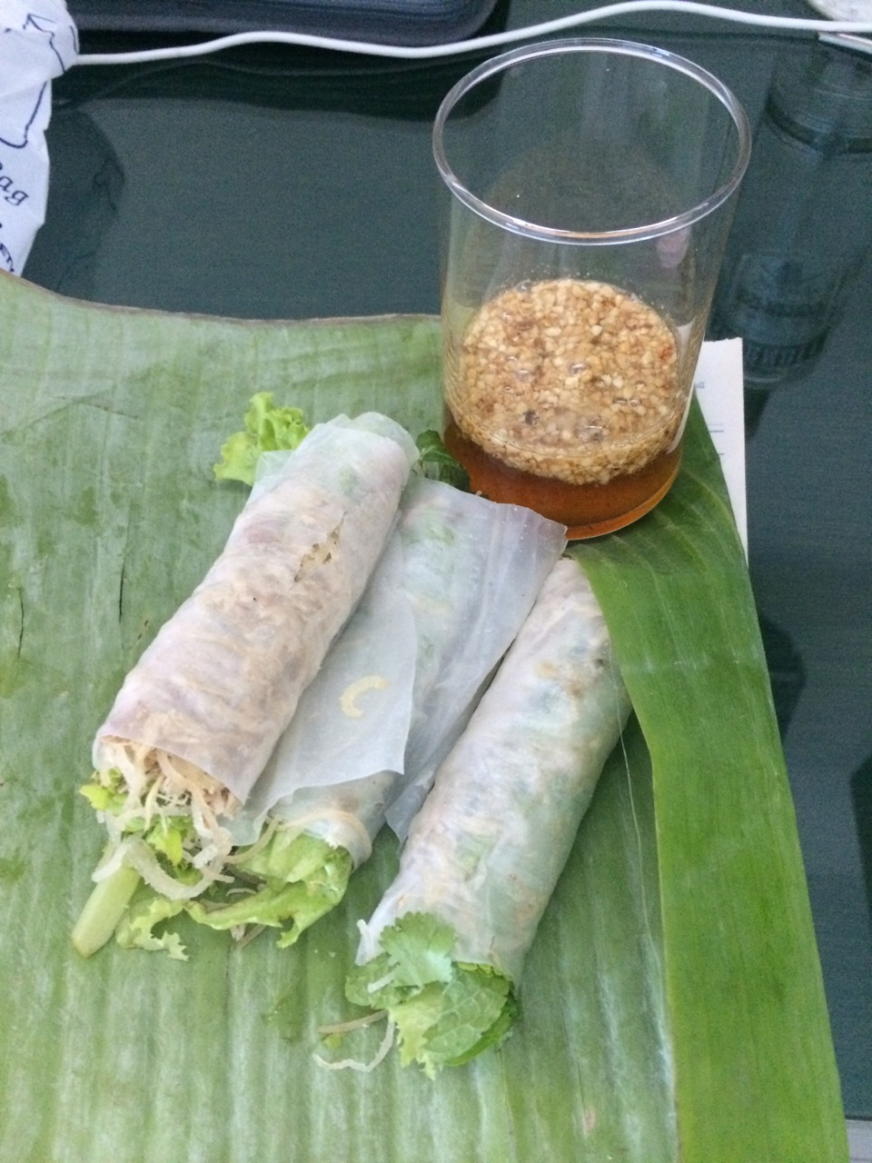 My afternoon snack from Indochine, a Vietnamese restaurant located only 100m from the T3 hotel in Ubon Ratchathani.